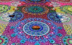 Kaleidoscopic Crystal Floor By Suzan Drummen