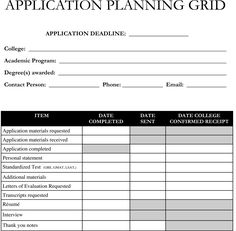 Planning on applying to graduate school? Use this Application Planning Grid template to stay organized!