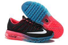 6269a65fa166b Womens Nike Air Max 2016 Running Shoes Black Pink-Blue, Price   79.00 - New  Air Jordan Shoes 2016