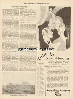 1929 Brown Bilt Footlites Friday Night Radio Show Program Buster Brown Shoes Ad