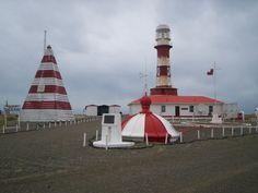 Faro Punta Dungeness (1899), Estrecho de Magallanes, Chile.