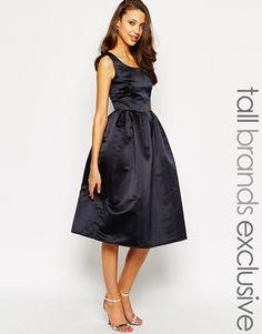 True Decadence Tall Satin Midi Prom Dress