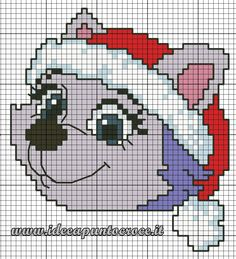 schema punto croce Everest paw patrol natalizia Needlepoint Patterns, Afghan Crochet Patterns, Crochet Chart, Counted Cross Stitch Patterns, Cross Stitch Designs, Cross Stitch For Kids, Cross Stitch Animals, Paw Patrol Christmas, Modele Pixel Art