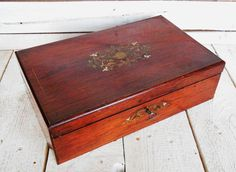 Antique Writing Box Lap Desk  Victorian by SecretsOfThePast