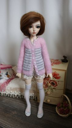 Knitted sweater for MSD bjd doll. by CocoDolls on Etsy
