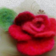 Beatifull rose Felt work, Wool, brooch or pin hair. Hand made felted Perfect gift. Elegant Flowers, Hair Pins, Gifts For Women, Felt, Brooch, Wool, Handmade, Etsy, Roses