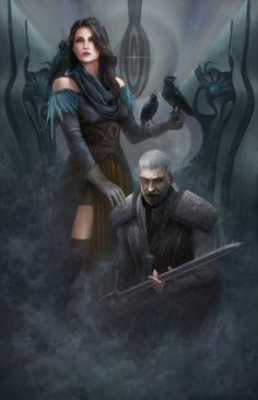 Geralt and Yennefer by KyTranArt