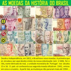 O Blog do JF: As moedas da história do Brasil