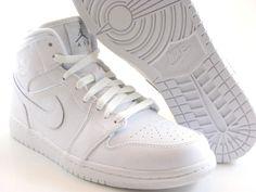 Nike Air Jordan 1 Mid Retro 2013 White I Basketball Men Shoes 554724 100 | eBay