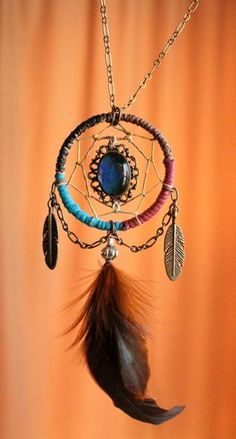 How To Make Dream Catcher Necklace Dreamcatcher Necklace peacock feather dream catcher necklace 15