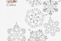 Free Easy Crochet Snowflake Pattern – Snowflakes WorldThousand ideas perNatale: Stelline and candid snowflakes Crochet Wool, Crochet Motifs, Crochet Winter, Thread Crochet, Irish Crochet, Crochet Doilies, Crochet Flowers, Crochet Patterns, Easy Crochet