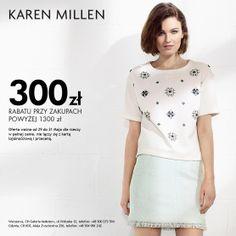 300zł  rabatu przy zakupach powyżej 1300 zł. Oferta ważna od 29 do 31 Maja dla rzeczy w pełnej cenie, nie łączy się z kartą lojalnościową i przeceną. #glamour #galeriamokotow #fashion #shopping #moda #zakupy #sale #Galmok #karenmillen @Karen Millen