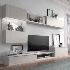 Code: 4364830779 units in living room interior design Living Room Wall Units, Living Room Tv Unit Designs, Ikea Living Room, Interior Design Living Room, Ikea Bedroom, Living Rooms, Kitchen Interior, Tv Furniture, Indian Furniture