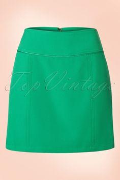 King Louie 60s olivia skirt opal green rok groen