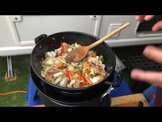 Very easy. Quick sticky Chicken stir-fry on the Cadac Safari Chef 2 Sticky Chicken, Chicken Stir Fry, Fries, Make It Yourself, Easy