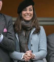 At the Cheltenham Races in March of 2007. Looks like her favourite might just be winning