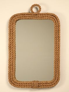 Custom Braided Rope Nautical Themed Wall Mirror