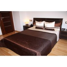 Luxusní přehozy na postel v hnědé barvě s pásky - dumdekorace.cz Bed, Furniture, Home Decor, Decoration Home, Stream Bed, Room Decor, Home Furnishings, Beds, Home Interior Design
