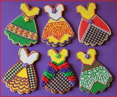 Fancy Cinco de Mayo Fiesta Dress Cookies by Julia M. Usher