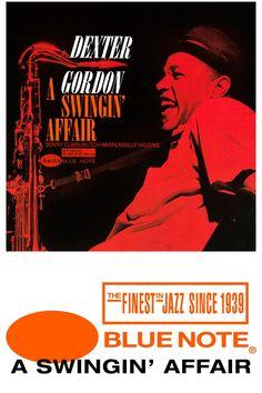 """Dexter Gordon's """"A Swingin' Affair"""" Poster."""