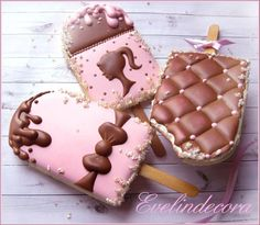 Popsicle cookies - Evelindecora - royal icing cookies ❤️