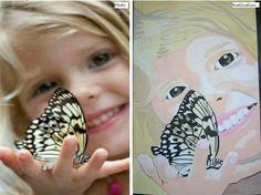 Fillette au papillon
