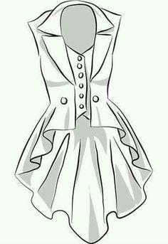 Long vest pattern high low corset vest steampunk - pic only Diy Clothing, Sewing Clothes, Clothing Patterns, Dress Patterns, Costume Patterns, Diy Kleidung, Diy Vetement, Long Vests, Vest Pattern