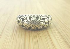 "SIZE 8 Sterling Silver 925 BEAUTIFULLY SCROLLED Vintage Dressy Casual 7.6g 1/3""…"