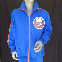 New York NY Islanders Jacket Mens Size 52 2XL Mitchell & Ness Vintage NHL Hockey #MitchellNess #NewYorkIslanders
