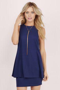 Making Moves Ribbed Shift Dress at Tobi.com #shoptobi