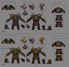 ArtStation - Greenskin Choppa Armor Sheet, Eric Polak