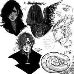 drew some things u guys requested !!!! the arcana stuff, sirius black, angels and one of my favorite video games charas aka djura