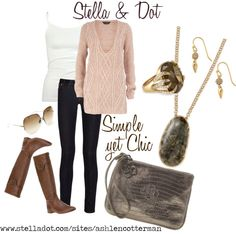"""""""Simple yet Chic with Stella & Dot"""" by ashlen-cotterman ❤ liked on Polyvore"""