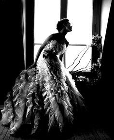 Barbara Mullen in a Christian Dior Dress, Paris. Harper's Bazaar, 1949 by Lillian Bassman