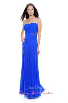 Decode 1.8 181978 royal #DrapedDress #StretchMesh evening dresses 2013