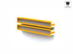 London me Kit mensola con angoli arrotondati, disponibile di vari colore e finiture legno 8 vedi tabella). Realizzata in alluminio e pannello rigido di nobilitato. Ideale come retro bancone o mensole da parete.