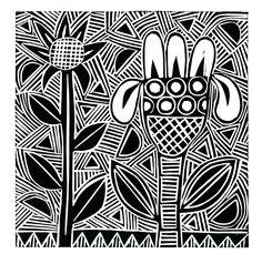 The Old Cells Studio - Michèle Brown Art: Vegetalis 1 - a linocut print