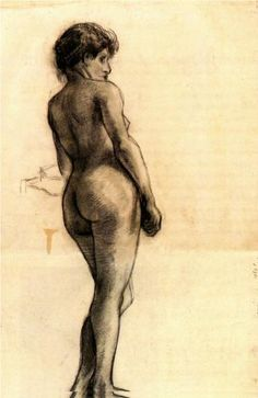 Standing Female Nude Seen from the Back - Vincent van Gogh