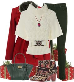 """""""Red and Green"""" by lmm2nd on Polyvore"""