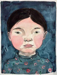 "Original artwork ""Blue boy"" door LutjeAnna op Etsy"