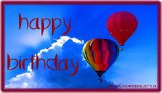 biglietto di auguri con scritto happy birthday in inglese
