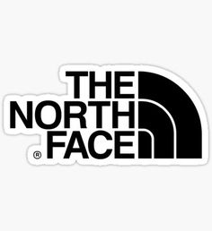 The North Face logo Sticker Brand Stickers, Face Stickers, Phone Stickers, Clothing Brand Logos, Black And White Stickers, Marken Logo, Tumblr Stickers, Photo Wall Collage, Aesthetic Stickers