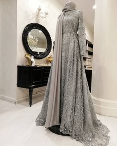 Garments from girls's favourite items of attire could also be the principle factor to a … Hijab Prom Dress, Hijab Gown, Muslimah Wedding Dress, Hijab Evening Dress, Hijab Style Dress, Muslim Dress, Evening Dresses, Prom Dresses, Wedding Hijab Styles