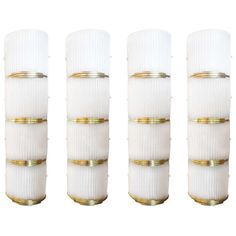 """Monumental Set of 4 Barovier and Toso """"Shield"""" Sconces"""