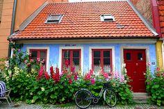 blue house, Malmo, Sweden