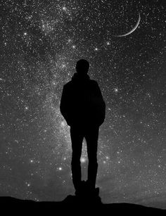 'When I look up at the night sky, many people feel small because they're small and the universe is big, but I feel big; because I know that my atoms came from those stars. Ciel Nocturne, Milky Way, Stargazing, Stars And Moon, Night Skies, Urban Art, Beautiful World, Native American Indians, Moonlight