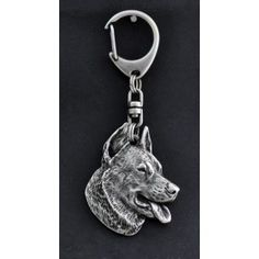 Keyring covered thin layer of silver Dog Lover Gifts, Dog Lovers, Best Artist, Dog Supplies, Handmade Gifts, Dogs, Silver, Kid Craft Gifts, Gifts For Dog Lovers