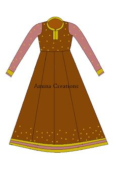 AMINA CREATIONS: HOW TO STITCH ANARKALI SUIT WITH PANELS