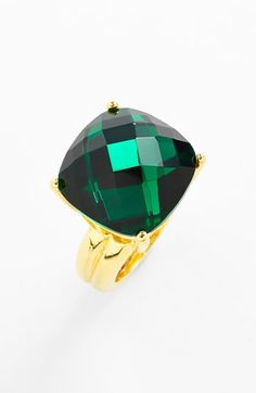 a fabulous emerald green cocktail ring