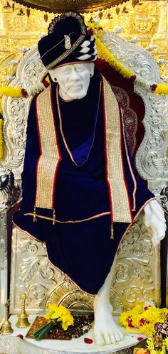 In fact we make custom outfits for Gods too :)  The turban, shawl and stall made for Sai baba temple in Flushing, NY.  Get a custom dress made for your Idols at Gravity Fashion.  https://www.gravity-fashion.com/haute-couture